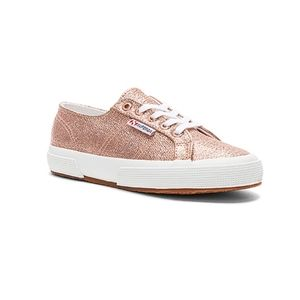 Superga 2750 Metallic Rose Gold Sneaker 9.5